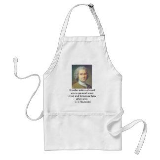 Rousseau en comedores de la carne delantales