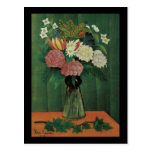 Rousseau Flowers in a vase Post Cards
