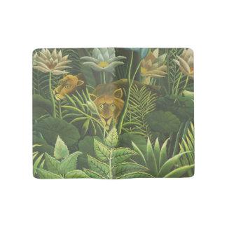 Rousseau Jungle Tropical Lion Art Print  Botanical Large Moleskine Notebook