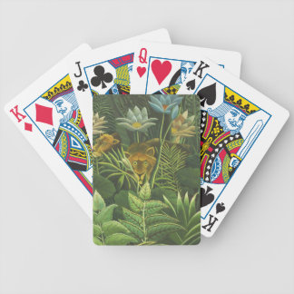 Rousseau Jungle Tropical Lion Art Print Foliage Bicycle Playing Cards