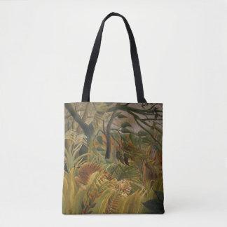 Rousseau Jungle Tropical Tiger Art Print Artwork Tote Bag