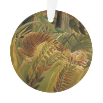 Rousseau Jungle Tropical Tiger Art Print Botanical Ornament