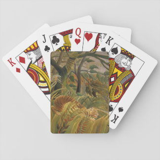Rousseau Jungle Tropical Tiger Art Print Playing Cards