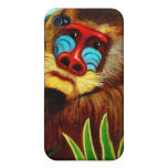 Rousseau - mandril en la selva (adaptación) iPhone 4/4S funda