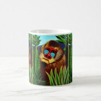 Rousseau - mandril en la selva adaptación taza