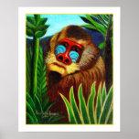 Rousseau - mandril en la selva (adaptación) impresiones