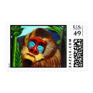 Rousseau - mandril en la selva (adaptación) envio