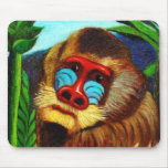 Rousseau - mandril en la selva (adaptación) tapete de ratones