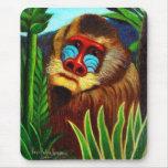Rousseau - mandril en la selva (adaptación) alfombrilla de ratones