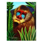 Rousseau - mandril en la selva (adaptación) tarjetas postales