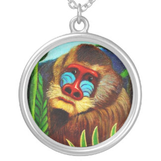 Rousseau - Mandril in the Jungle (Adaptation) Pendants