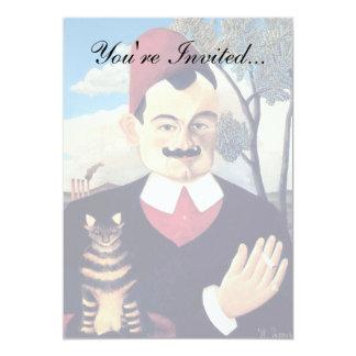 Rousseau - Portrait of Pierre Loti Man with Cat Card