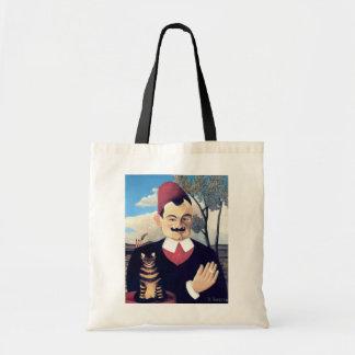 Rousseau - Portrait of Pierre Loti Man with Cat Tote Bag