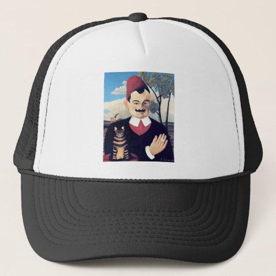 Rousseau - Portrait of Pierre Loti Man with Cat Trucker Hat