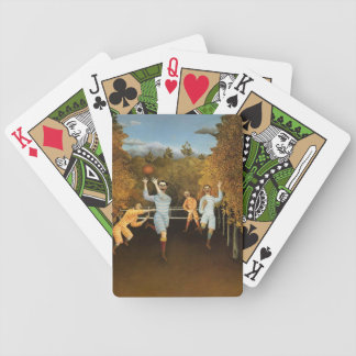 Rousseau's Football Players playing cards