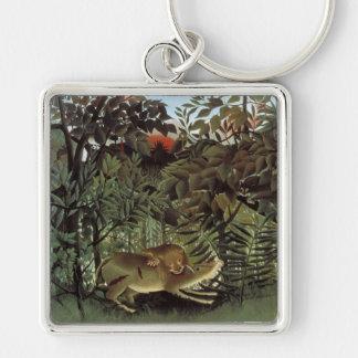 Rousseau's Hungry Lion key chain