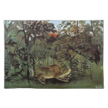 Rousseau's Hungry Lion placemat