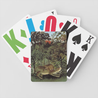 Rousseau's Hungry Lion playing cards