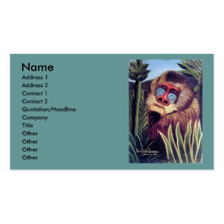 Rousseau s Mandrill in the Jungle circa 1909 Business Card Template