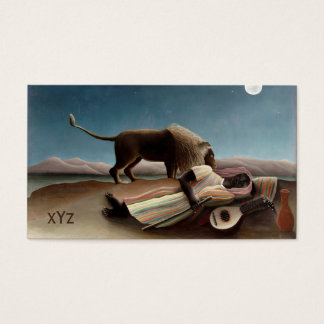 Rousseau's Sleeping Gypsy custom business cards