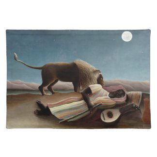 Rousseau's Sleeping Gypsy placemat