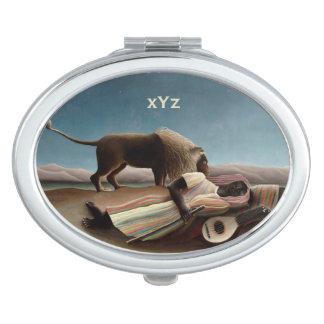 Rousseau's Sleeping Gypsy pocket mirror