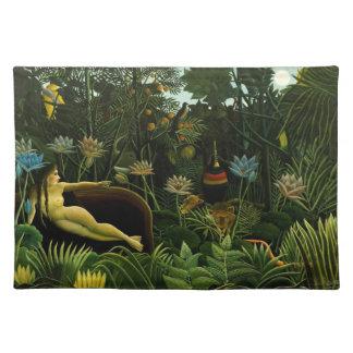 "Rousseau's ""The Dream"" placemat"