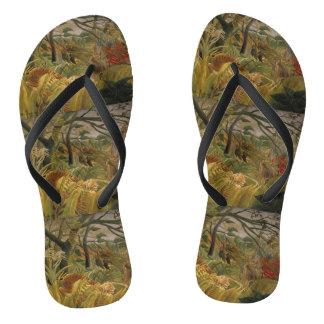 Rousseau's Tiger art sandals