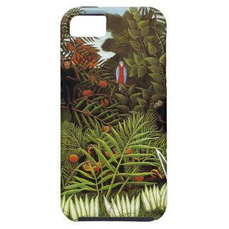 Rousseau Selva Monos iPhone 5 Protectores