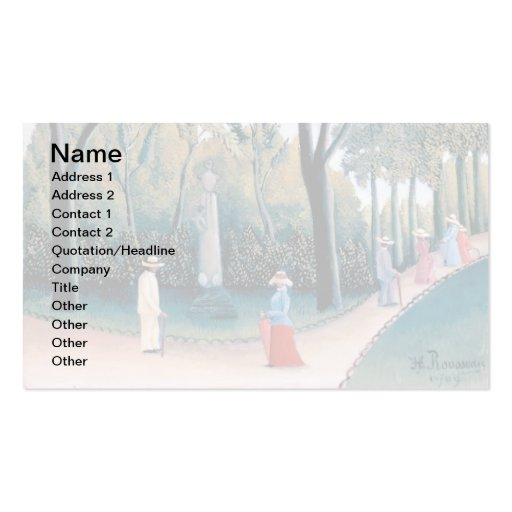 Rousseau - The Luxembourg Gardens Double-Sided Standard Business Cards (Pack Of 100)