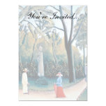 Rousseau - The Luxembourg Gardens 5x7 Paper Invitation Card