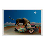 Rousseau - The Sleeping Gypsy - Vintage Classic Print