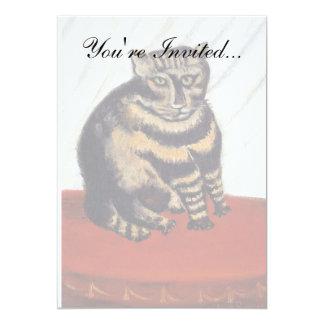 Rousseau - The Tiger Cat 5x7 Paper Invitation Card