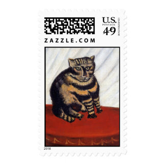 Rousseau - The Tiger Cat Stamp