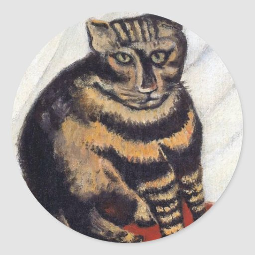 Rousseau - The Tiger Cat Round Sticker