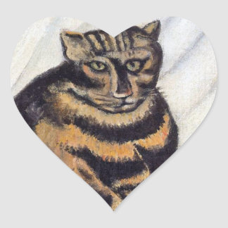 Rousseau - The Tiger Cat Heart Stickers