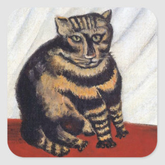 Rousseau - The Tiger Cat Sticker
