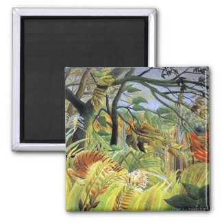 Rousseau: Tiger in a Tropical Storm Fridge Magnets