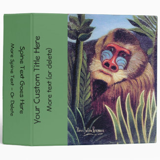 """Rousseau's """"Mandrill in the Jungle"""" (circa 1909) 3 Ring Binder"""