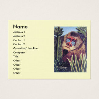 "Rousseau's ""Mandrill in the Jungle"" (circa 1909) Business Card"