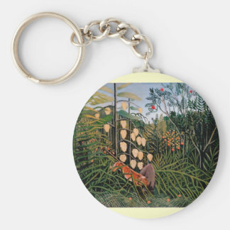 Rousseau's Struggle between Tiger and Bull (1909) Keychain