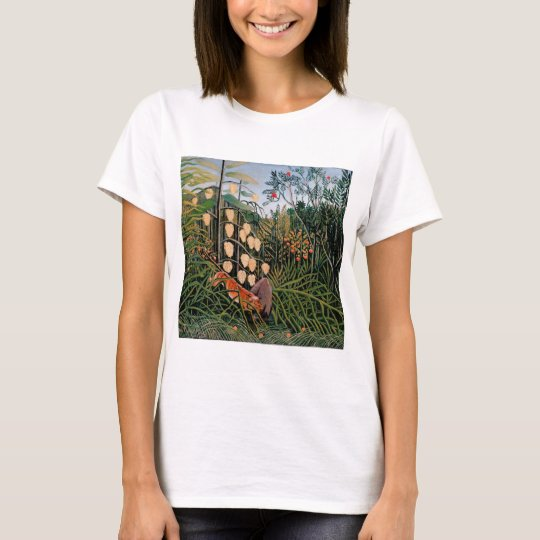 Rousseau's Struggle between Tiger and Bull (1909) T-Shirt