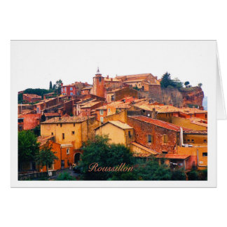 Roussillon greeting card