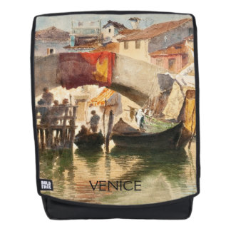 Roussoff's Venice custom text backpack