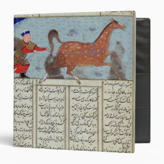 Roustem capturing his horse, from the 'Shahnama' 3 Ring Binder