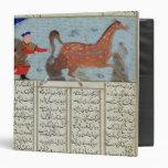 Roustem que captura su caballo, del 'Shahnama