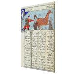Roustem que captura su caballo, del 'Shahnama Impresión En Lona