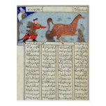 Roustem que captura su caballo, del 'Shahnama Postales