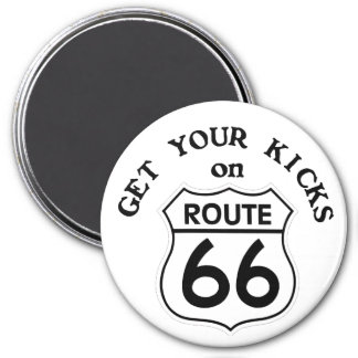 route66 3 inch round magnet