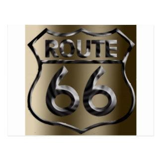 Route66metal2 Postcard